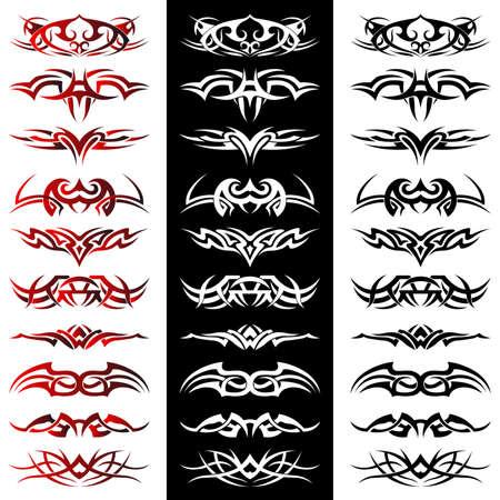tribales: Conjunto de tatuaje tribal incluyendo