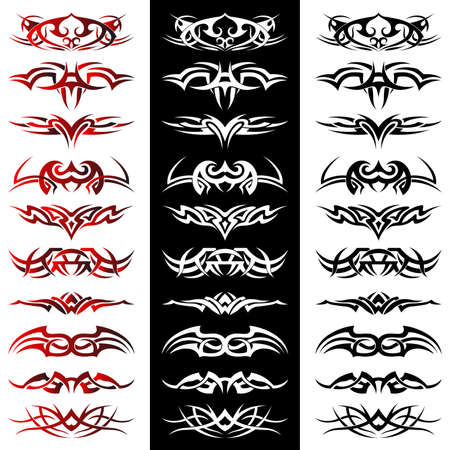 Set of tribal tattoo including Stock Vector - 8604893