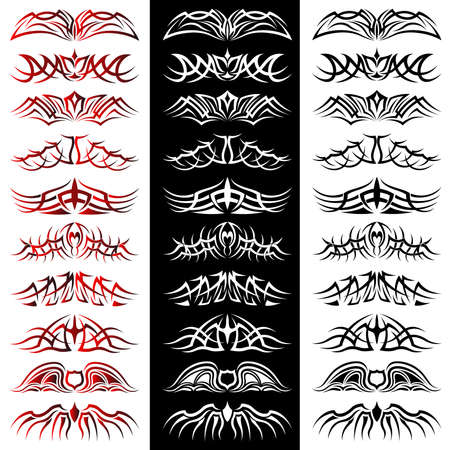 Set of tribal tattoo including Stock Vector - 8604896