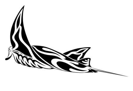 Manta Ray, tribal tattoo Stock Vector - 9661245