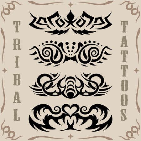 Tribal tattoos Stock Vector - 9818098