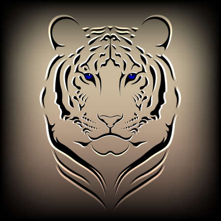 isolated tiger: Tigre Vector