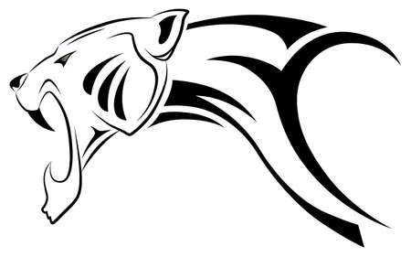 poner atencion: Leopardo de vector, tatuaje tribal Vectores