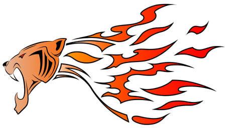 jaguar: Leopard y llama, tatuaje tribal