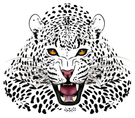 guepardo: Leopard, tatuaje Vectores