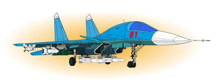 avion de chasse: Des avions de combat Illustration