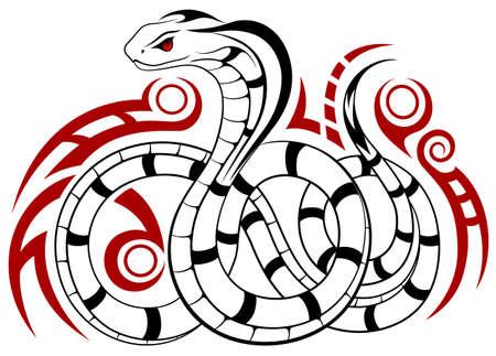 serpiente cobra: Serpiente, Cobra en la forma de un tatuaje