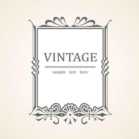 Vintage frame Stock Vector - 17086591