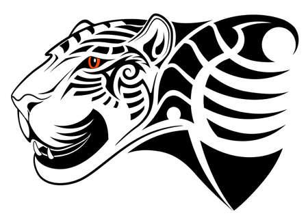 dexterous: Leopard, tribal tattoo Illustration