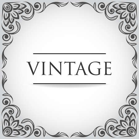 Vintage retro frame for design Stock Vector - 18524260