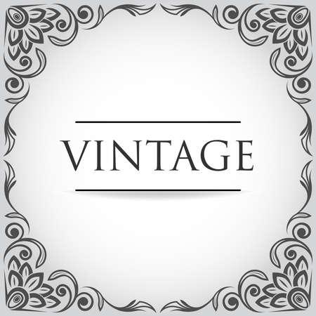 antique paper: Vintage retro frame for design