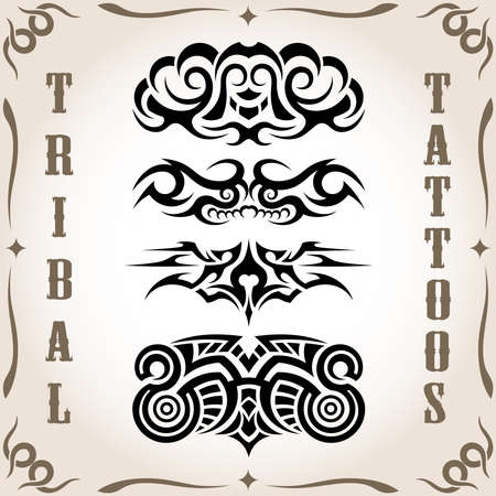 Set of tribal tattoo including Stock Vector - 18524263