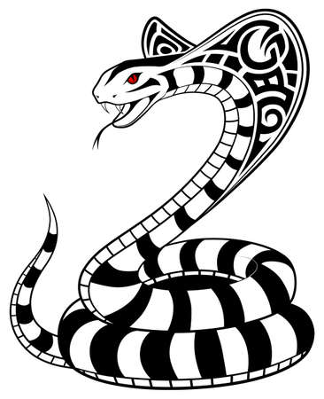 fangs: Vector Snake, tribal tattoo