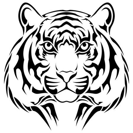 Tiger, tribal tattoo Vector