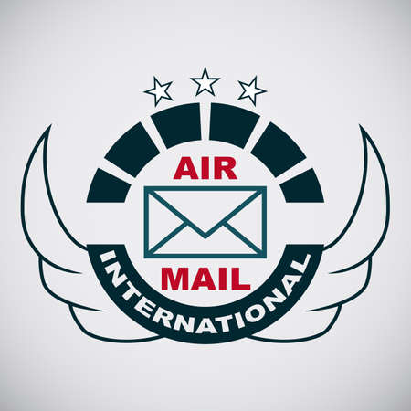 express delivery: Vector stamp air mail