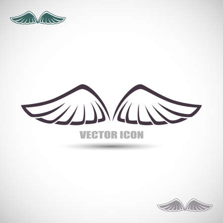 rn: Label with wings Illustration