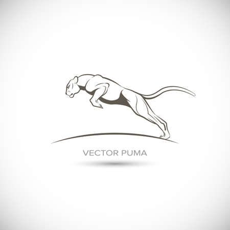 Vector Label with puma