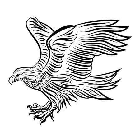 Abstract eagle tattoo