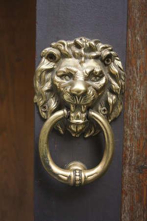 Knocker shaped metal Leon, Siena photo