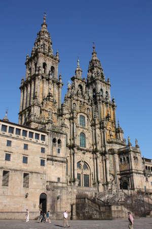 chapel catholic: Facade of the Cathedral of Santiago de Compostela, detail Stock Photo