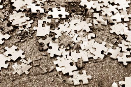 sepias: Puzzle, cards Stock Photo