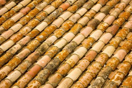 Arabic tiles texture, Mediterranean village photo