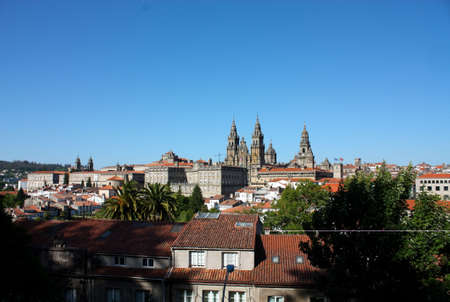 The cathedral of Santiago de Compostela is the reputed burial-place of Saint James the Greater, one of the apostles of Christ. It is the destination of the Way of St. James (popularly known by its local denominations: Galician: Cami–o de Santiago, Portugu Stock Photo - 6356358