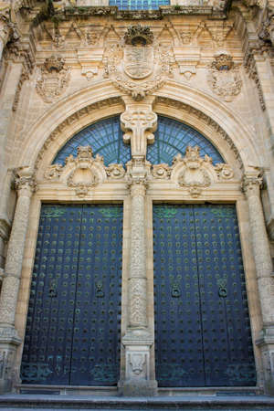 The cathedral of Santiago de Compostela is the reputed burial-place of Saint James the Greater, one of the apostles of Christ. It is the destination of the Way of St. James (popularly known by its local denominations: Galician: Cami�o de Santiago, Portugu Stock Photo - 6356300