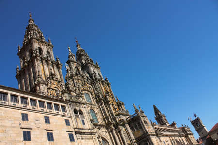 The cathedral of Santiago de Compostela is the reputed burial-place of Saint James the Greater, one of the apostles of Christ. It is the destination of the Way of St. James (popularly known by its local denominations: Galician: Cami�o de Santiago, Portugu photo