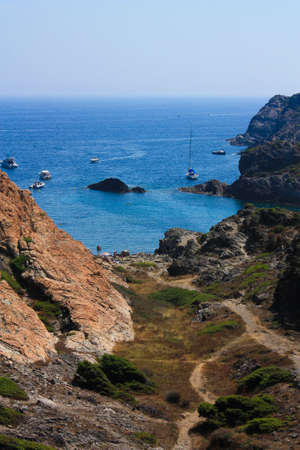 northern spain: Cap de Creus, a natural park, is ideal for excursions on foot or by boat. Situated in the northern Costa Brava, Girona province, Catalonia, Spain.