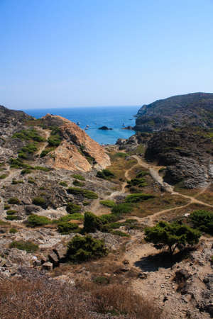 excursions: Cap de Creus, a natural park, is ideal for excursions on foot or by boat. Situated in the northern Costa Brava, Girona province, Catalonia, Spain.
