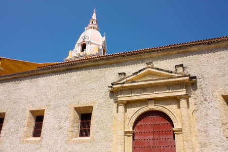 catolic: Cathedral of St. Catherine of Alexandria in Cartagena de Indias. Colombia