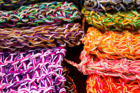 wool fabrics, colors. Colombia.  photo
