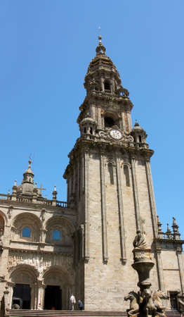 The cathedral of Santiago de Compostela is the reputed burial-place of Saint James the Greater, one of the apostles of Christ. It is the destination of the Way of St. James (popularly known by its local denominations: Galician: Cami–o de Santiago, Portugu photo