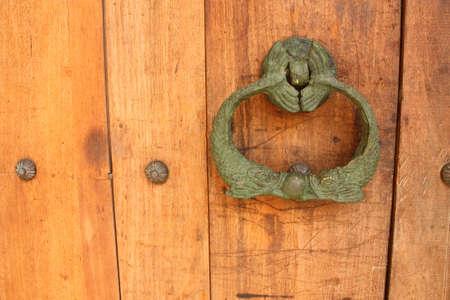 Spanish colonial style door. Cartagena de Indias, Colombia.  photo