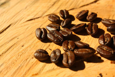 Roasted coffee. Colombian organic grains. Stock Photo - 6696723