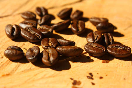 Roasted coffee. Colombian organic grains. Stock Photo - 6696726