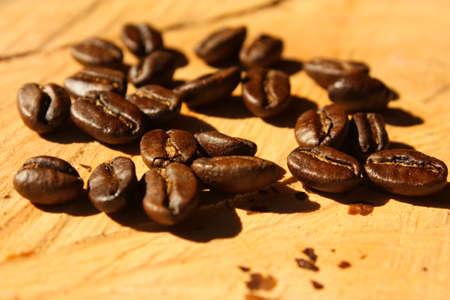 Roasted coffee. Colombian organic grains. Stock Photo - 6696726