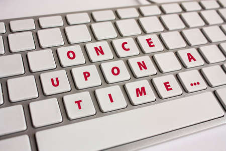 phrase novel: Once upon a time... message written on a keyboard Stock Photo