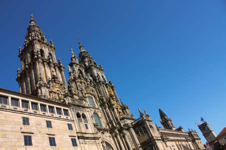Cathedral. Santiago de Compostela is the reputed burial-place of Saint James the Greater, one of the apostles of Christ. It is the destination of the Way of St. James, a major historical pilgrimage route since the Middle Ages. photo