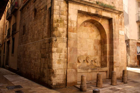 Medieval source, in Barcelonas Gothic Quarter photo