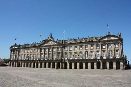 Palacio de Rajoy, the palace opposite to the cathedral in Santiago de Compostela. The square that both this palace and the cathedral are situated on is called Plaza del Obradoiro. Spain photo