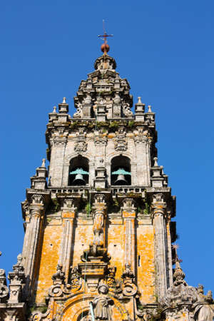 way of st  james: The cathedral of Santiago de Compostela is the reputed burial-place of Saint James the Greater, one of the apostles of Christ. It is the destination of the Way of St. James (popularly known by its local denominations: Galician: Cami�o de Santiago, Portu Stock Photo