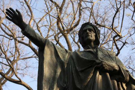 dante alighieri: Statue of Dante Alighieri, author of The Divine Comedy, the greatest works of world literature. Mountain of Montjuic, Barcelona