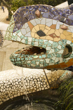 Gaudi's dragon is located at the entrance to Park Guell, modernist work of Antonio Gaudí­. Barcelona Stock Photo - 7477620