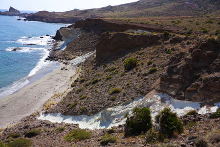 littoral: Cala Raja, Littoral Natural Park of Cabo de Gata, in Almeria province, Andalusia, Spain