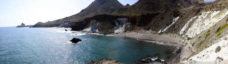 littoral: Cala Raja. Littoral Natural Park of Cabo de Gata, in Almeria province, Andalusia, Spain