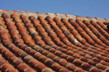 Roof of a colonial house in the neighborhood of La Candelaria, Bogot�, Colombia photo