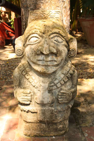 Stone statue of San Augustin. Colombia