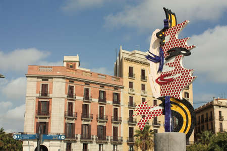 graphic artist: Barcelonas Head (Cabeza de Barcelona in Spanish) is a sculpture by Roy Lichtenstein, American graphic artist, an exponent of pop art. Made between 1991-1992 by Diego Delgado Rajado. It is located on Paseo Colon in Barcelona. Made with 8 precast artificia